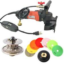 V40 Full Bullnose Wet Polisher Grinder Concrete Diamond Pad Set - V40WVPOLSET