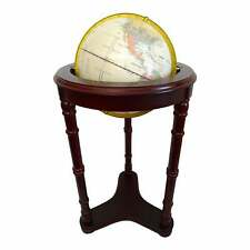 1980s Fucashun 12 Inch Roosevelt World Globe With Wooden Stand
