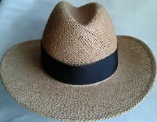 Vintage Bailey of California Black Banded Cowboy Hat Small Size 6 3/4 USA 54 cm