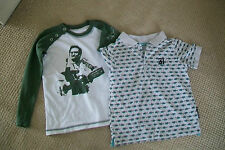 Lot of 2 boys tops.4/5y.Cotton.Used.