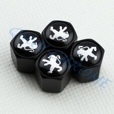 BLACK Wheel Tire Tyre Valve Stem Air Caps For 208 308 4008 407 RCZ 607 408 508