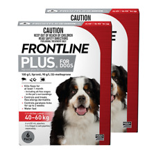 Frontline Plus for Extra Large Dogs 40 to 60kg (Red) (12 Pipettes) Dog Dogs