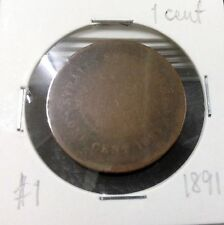 STRAITS SETTLEMENTS  QUEEN VICTORIA  1 cent  1891  #1