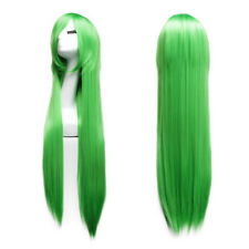 Lady Wig Long Straight Women's Cosplay Costume Hairpieces 100CM Grass Green 2018