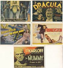 UNIVERSAL MONSTERS OF THE SILVER SCREEN 1996 K. S. PARTIAL STICKER SET 9/10
