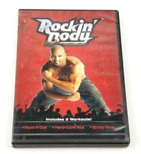 Rockin Body Shaun T DVD 3 Workout Rock It Out Hard Abs Booty Time Weight VGB
