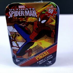 """Cardinal Marvel Ultimate Spider-Man PUZZLE  50pc Tin Puzzle  5""""x7"""""""