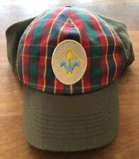 BSA Cub Scout Webelo Uniform Hat Size M/L Plaid Green EUC