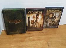 Lot Triliogy The Lord Of the Rings Dvd Fellowship, 2 Towers, Return Of The King
