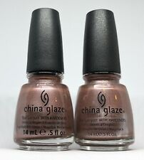 China Glaze Nail Polish ROBOTIKA 846 Pink Brown Chrome Shimmer Khrome Lacquer