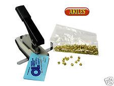 "Akiles Eyelet Binding System & Punch including 250 Brass Eyelets 3/16"" ( New )"