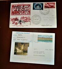 storia postale italia repubblica 50 anni posta aerea e conferenza dei musei