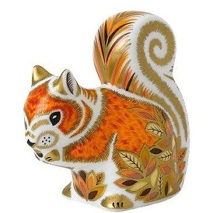 Royal Crown Derby autumn squirrel Paperweight