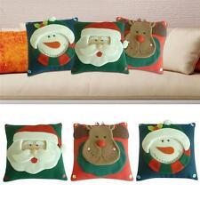 3D Christmas Pillow Cover Santa Claus Snowman Elk Cushion Cover Home Decorative