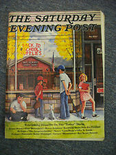 Sept/Oct 1973 SATURDAY EVENING POST; Back To School Cover, Boy Scouts, Football