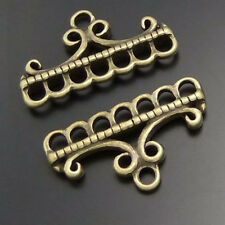 40pcs Vintage Bronze Alloy Multi Hole Hanger Pendant Connector 02793