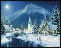 Mountain Village Christmas - Chart Counted Cross Stitch Pattern Needlework DIY