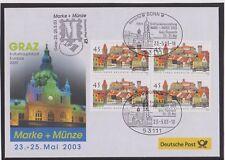 BRD-2003-Briefm.-Ausst.-Belg-GRAZ-Kulturhauptstadt-MARKE+MÜNZE-23-25-5-03Mi:2309