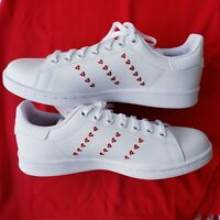 NEW WOMEN'S ADIDAS ORIGINALS STAN SMITH J EMBROIDERED HEARTS SHOES [EG6495]