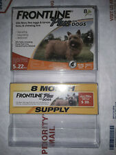 Frontline Plus 5 to 22 lb Flea & Tick Control Small Dogs, 8 Doses EPA APPROVED