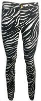 Ladies New Skinny Zebra Black Spandex Jeans Trouser BNWT