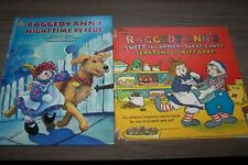 2 Vintage Raggedy Ann & Raggedy Ann's Hardback Books: