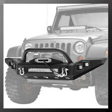 07-17 Jeep Wrangler JK Full Width Front Bumper With 5 S/Work LED Lights& D-Rings