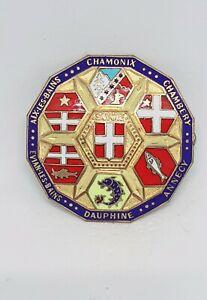 Swiss Province Chamonix Dauphine Evian Chambery Badge The Coat Wappen Abzeichen