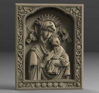 3D STL Model Saint Maria and Jesus 2 for CNC Rout Engraver Carving Aspire Artcam