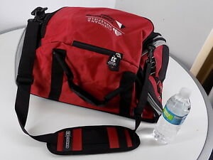 "OGIO  21""X11""X10"" Red/Black Sports Gym Bag, Shoulder strap, Shoe-Pocket, branded"
