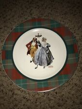 """Norman Rockwell The Saturday Evening Post """"Merrie Christmas"""" CHRISTMAS PLATE"""
