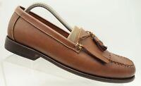 Bostonian Brown Leather Casual Kiltie Tassel Slip On Loafers Shoes Men's 9.5 M