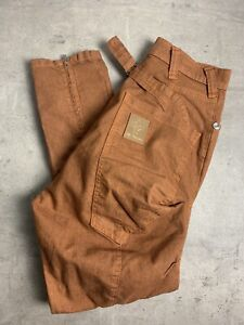 Drop Crotch Jeans Orange 28 Waist ALEX CHRISTOPHER RRP £95.00 NEW WITH TAGS