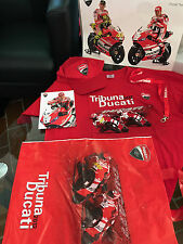 DUCATI Fanpaket Tribuna Ducati MOTO GP T-Shirt L Cap Tasche Poster HAYDEN ROSSI