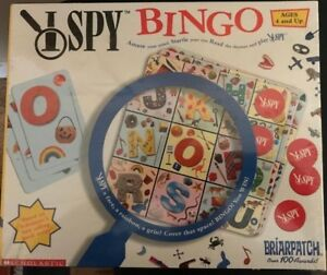 I Spy Bingo Briarpatch Scholastic Educational Board Game Ages 4+ 2003 New Sealed