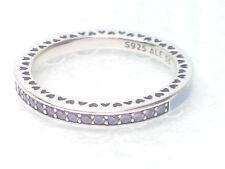 NEW AUTHENTIC Pandora Radiant Hearts Lavender Purple cz Ring 191011ACZ