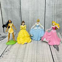 DISNEY STORE Princess Figure LOT Pocahontas Cinderella Belle Aurora Cake Toppers