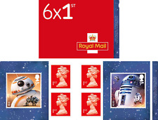"""Star Wars: The Last Jedi""""- Retail Stamp Book -Droids - Stamp Booklet"""