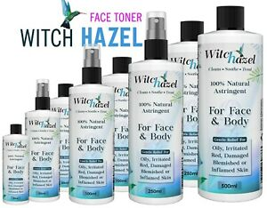 Alcohol Free Witch Hazel Astringent Herbal Cure Face/ Skin Care Toner *UK