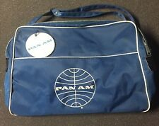 Vintage Pan Am Carry on Flight Tote Bag Adjustable Shoulder Tag Colossus Travel