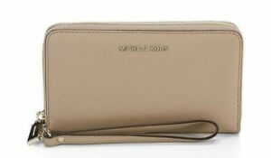 Michael Kors Mercer Women's Pebbled Leather Smartphone Wristlet Purse - Truffle