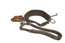 Line Man Belt W M Bashlin Size D21 Y 51 Fm Klien Sling Leather Pouch