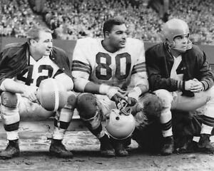 OTTO GRAHAM TOM JAMES LEN FORD 8X10 PHOTO CLEVELAND BROWNS PICTURE NFL FOOTBALL