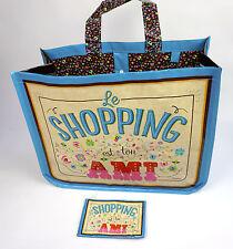 Ladies Shopping Tote Handbag Shoulder Bag Retro Style Reusable