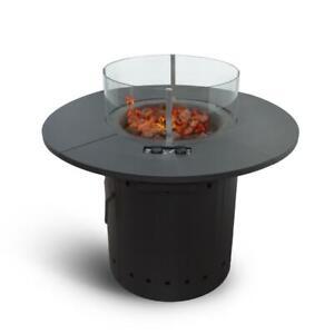 Meateor Feuertisch Ambiente mit 2 Gasbrennern inkl. Lavasteine und Schutzhaube
