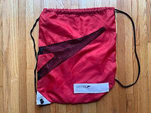Rare Vintage lightweight Speedo Backpack Shoe Bag Red Soft Duffel w/ Mesh (BG1)