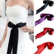 Classic Handmade Bowknot Waistband Bridal Wedding Dress Sash Belt Long Ribbon