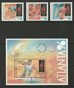Kazahkstan 1996 Atlanta Olympics Set and Sheet UM