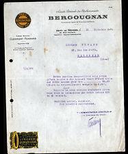 """NEVERS (58) PNEUS & BANDAGES CAOUTCHOUC """"BERGOUGNAN"""" + VIGNETTE d'ENTREPRISE"""