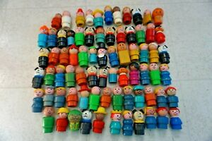 FISHER PRICE LITTLE PEOPLE And Others Vintage Huge  Lot Dog Baby Freckles Cowboy